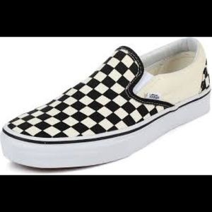 Classic  and checkered slip on shoes